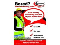 part time work delivering leaflets in the Newport, Cwmbran, Abergavenny and other areas