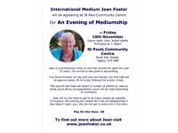 Evening of Mediumship with Jean Foster on 10 November