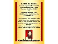 8 week salsa course for absolute beginners and improvers level