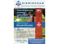 FOOTBALL TRIALS WITH BHAM JPL REGIONAL TALENT CENTRE