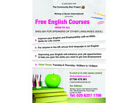 FREE ENGLISH LEARNING CLASSES IN NEWHAM