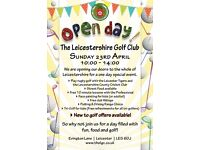 The Leicestershire Golf Club Open Day - Sunday 23rd April - Fun for all the family!
