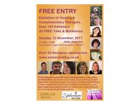 Free Entry to Exhibition of Healing & Complementary Therapies 12 November 2017 11 am - 5 pm