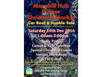 Indoor Christmas Market - Car boot & Jumble sale - Saturday 10th December 11-3pm