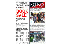 ExLibris 11th Masked Charity Booksale. Rescued books sold for local charities at low prices.