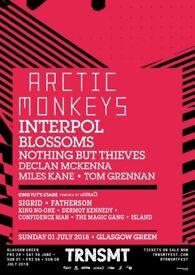 2 Sunday TRNSMT tickets for sale. Artic monkeys etc