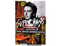 SUPER HANS, LONDON, 22nd OCT 2016