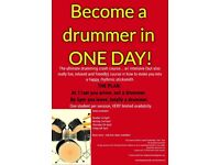 Become a drummer in just one day!