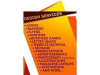 LOGO - FLYER - POSTER - PRINTING ARTWORK- BUSINESS CARDS- ETC.