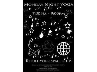Monday night yoga at yogasara studio, picton street