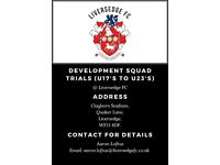 Development Squad Trials - Liversedge FC