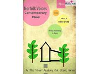 Norfolk Voices Contemporary Choir for 11-17 year olds