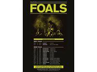 Foals standing tickets, Utilita Arena Birmingham, Saturday 23 April 2022