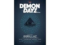 Gorillaz Demon Dayz Festival, Margate - x4 tickets