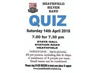 Quiz Evening with Fish & Chips hosted by Heathfield Silver Band