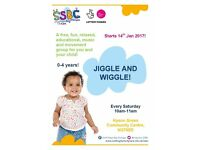 Free Jiggle and Wiggle for children from 0-4 years old