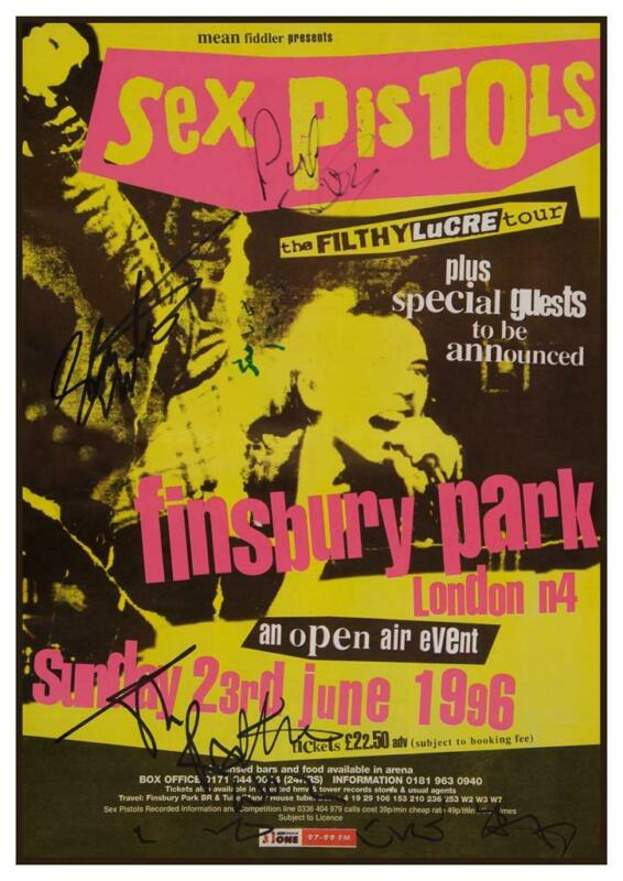 Sex Pistols - POSTER  - Filthy Lucre TOUR- Live LONDON 96