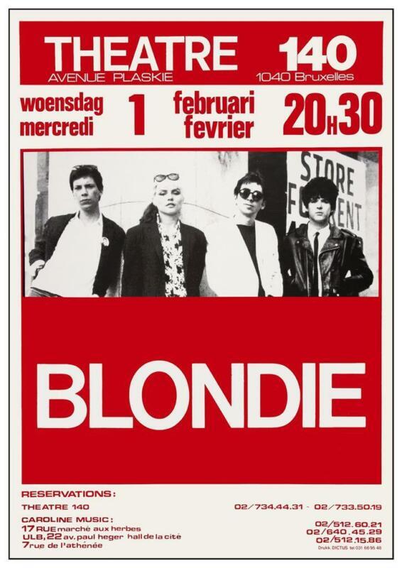 Blondie - POSTER - Debbie Harry LIVE Concert 1978 Brussels Belgium