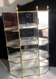 Jewellery display stand - Brass and Glass