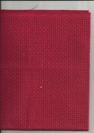 RED CROSS STITCH fabric 1 metre or 5 METRES X 50 cm Binca 6 count BRAND NEW