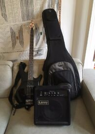 Ibanez GSR180 Bass Guitar with Laney RB1 Richter Bass Amp and Soft Case