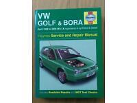 VW golf and bora mk4 HAYNES MANUAL 3727