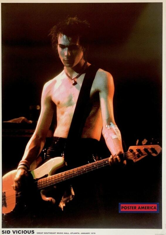 Sid Vicious Great Southeast Music Hall UK Poster 23.5 x 33