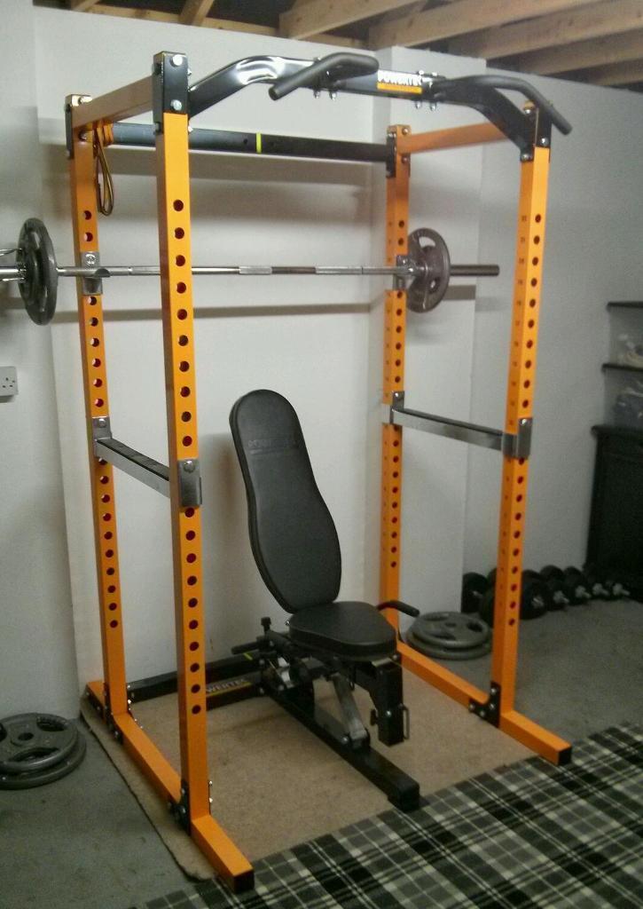 powertec power rack squat rack chin up bar pull up