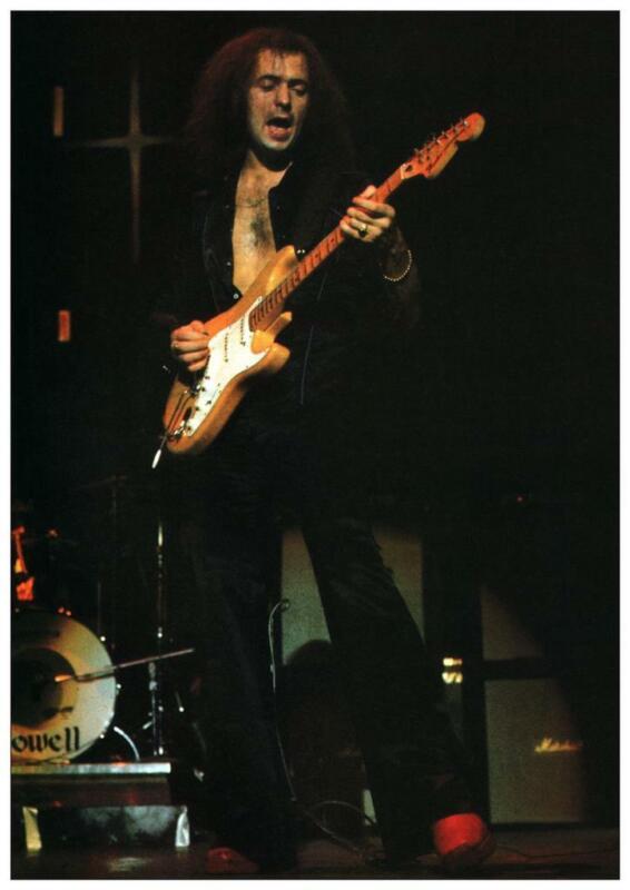 Ritchie Blackmore - POSTER - Deep Purple RAINBOW Fender Strat Guitar MASTER