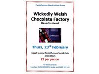 Coach Trip To Wickedly Welsh Chocolate Factory, Haverfordwest
