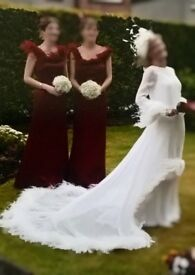 pronuptia wedding dress and 2 x bridesmaids dresses