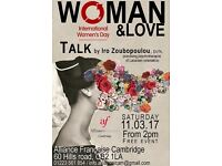 Woman & Love: Talk for International Women's Day 2017