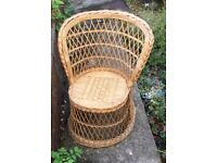 """Children's wicker chair - 30"""" in height ,used good condition"""