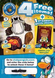 4 Free Club Penguin Items