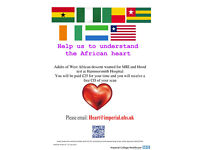 Adults of WEST AFRICAN descent wanted for heart scan