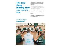 Volunteers required for growing scout group