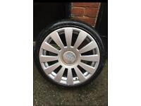 Set of 4 audi alloys and tyres