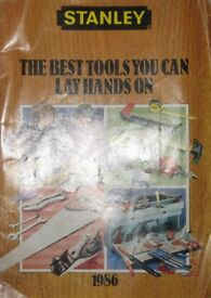 STANLEY TOOLS SMALL BROCHURE of Tools and prices 1986