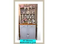 Shabby chic painted Welsh dresser REDUCED