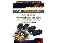 VW AUDI SEAT SKODA KEY CUTTING AND PROGRAMMING + SKC PIN READ