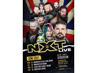 2 WWE NXT TICKETS FOR Mon 5th Jun AECC Aberdeen Arena