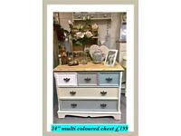 Multi coloured drawer chest Take 10% OFF Black Friday weekend