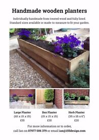Wooden PLANTERS all shapes and sizes on request - All hand made