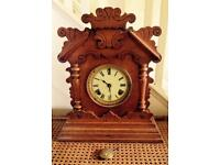 """ORIGINAL LARGE ANSONIA (USA) WOODEN CLOCK"""