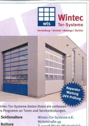 Wintec-Tor-Systeme