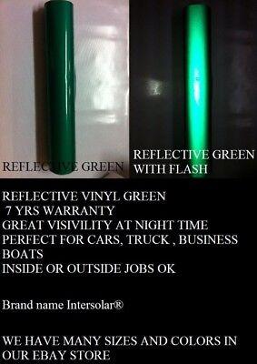 Green Reflective 12x 5 Feet Vinyl Adhesive Sign Plotter Hight Reflectivity