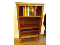 BEAUTIFUL MARBLE TOP VICTORIAN BOOKCASE - WE CAN DELIVER