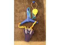 Lindam Door Bouncer Baby Activity Yellow and Blue for Development Fun VGC