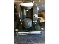 Bosch Tassimo coffee machine with display stand & pod drawer