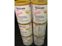 3 x tins sealed neocate baby milk / formula